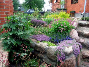 Фото, підняті клумби, як спорудити своїми руками на дачі і в саду. Види і фото клумб піднятих для квітів.
